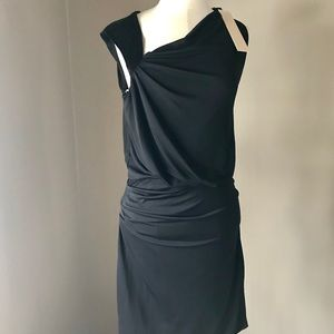 Halston Heritage ruched one shoulder LBS